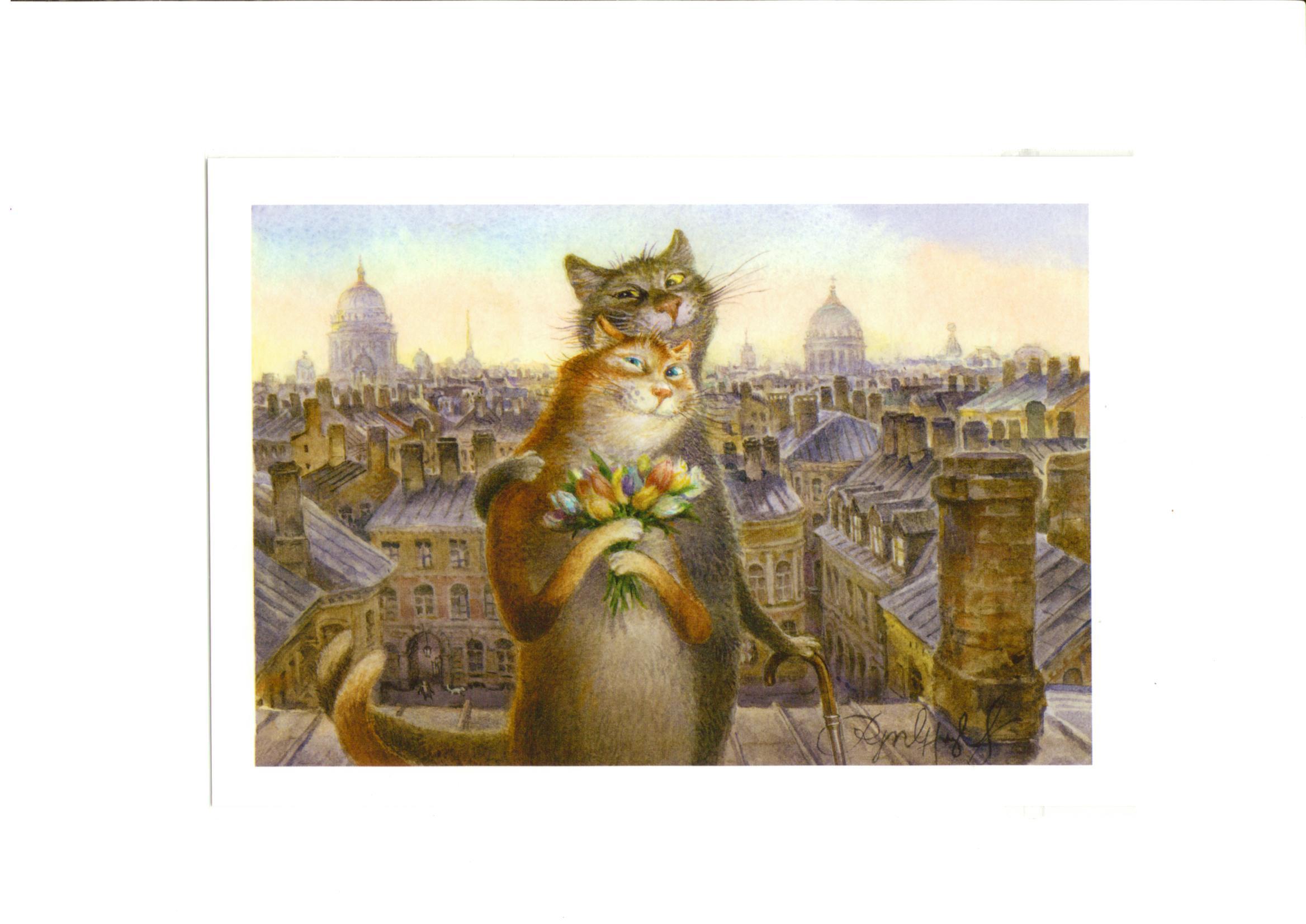 Открытки с питерскими котами